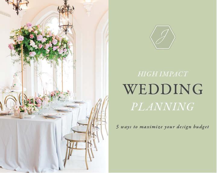 high impact wedding planning