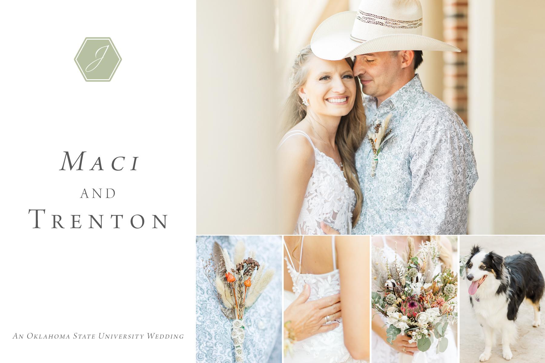 Maci and trenton oklahoma state univerity wedding